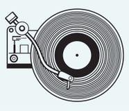 Platenspeler vinylverslag Stock Fotografie