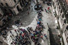 PlaterÃas fyrkant på Santiago de Compostela Royaltyfria Bilder