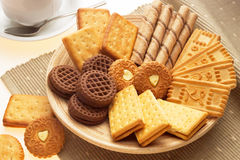 Plater full of biscuits Royalty Free Stock Images