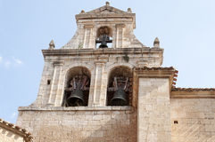 Plateresque style church. Bell tower of the church of St. Mary is a building of Plateresque style with some remains of Romanesque style dating from the twelfth Royalty Free Stock Photo