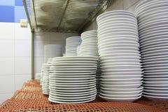 Plates. Photograph of plates at restaurant klitchen Stock Image