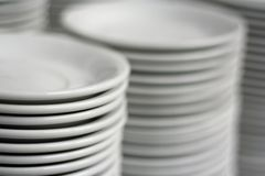 Plates. Photograph of plates at catering royalty free stock photo