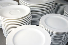Plates. At restaurant or catering royalty free stock image