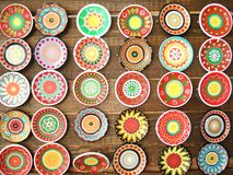 Plates. Background, hand made in europe Royalty Free Stock Photos