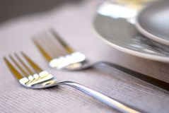 Free Plates And Cutlery Royalty Free Stock Images - 1455859
