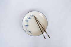 Plates and bowls, chopsticks prepared for the Chinese people. Royalty Free Stock Photos