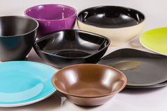 Plates and bowls Royalty Free Stock Photography