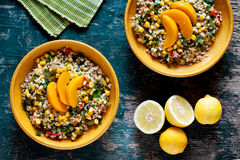 Plates Of Bulgur And Vegetables Salad Stock Photography