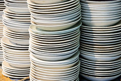 Plates ceramics on the market Royalty Free Stock Photo