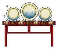 Plates at the China shop Royalty Free Stock Images