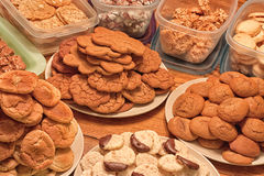 Plates of Christmas Cookies Royalty Free Stock Photos