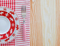 Plates with christmas pattern Stock Photography