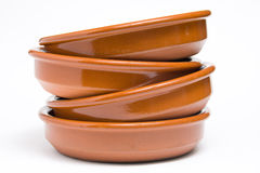 Plates clay Royalty Free Stock Image