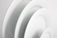 Plates. Close Up of White Plates Royalty Free Stock Photography