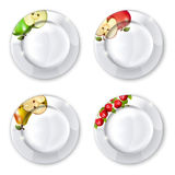 Plates royalty free illustration