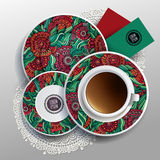 Plates and cup of coffee Royalty Free Stock Photos