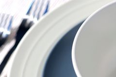 Plates and cutlery Royalty Free Stock Images