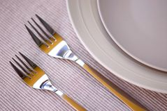 Plates and cutlery Stock Photography