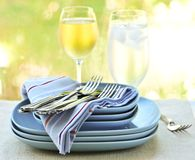 Plates and cutlery Stock Image