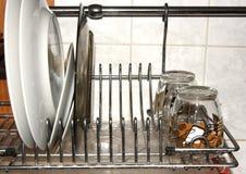 Plates on dryer Stock Image