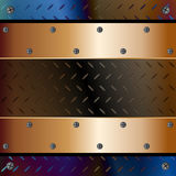 Plates fixed with screws Royalty Free Stock Photos