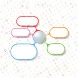 Plates-formes colorées Image stock