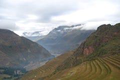 Plates-formes dans Pisac Pérou Image libre de droits
