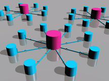 Plates-formes de réseau illustration stock