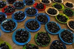 Plates full of Kai freshwater mussels Fiji Stock Photography