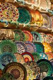 Plates at the Grand Bazaar Stock Images