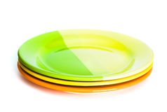 Plates isolated Stock Image