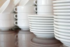 Plates kitchenware Royalty Free Stock Photos