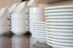 Plates kitchenware Royalty Free Stock Photography