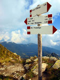 Plates with markings mountain trails, the Brenta Dolomites Stock Photography