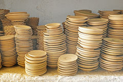 Plates in maroccan pottery Stock Photo