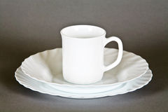 Plates and mug Royalty Free Stock Image