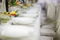 Plates before party Royalty Free Stock Photos