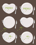 Plates and Peas Royalty Free Stock Images