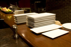 Plates in restaurant Royalty Free Stock Photography