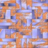 plates rostigt stål Järnförsvar Sömlös texturbakgrund för harnesk Arkivbilder