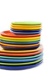 Plates and saucers Royalty Free Stock Photos