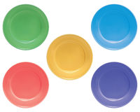 Plates set, isolated. Illustration Stock Photos