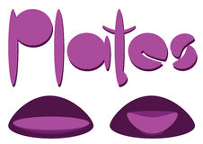 Plates sign Royalty Free Stock Image