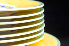 Plates stacked macro Stock Images