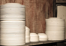 Plates stacked Royalty Free Stock Photo