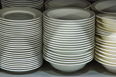Plates in the store Stock Images