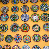 Plates on the wall stock photography