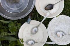 Plates Washing Stock Images