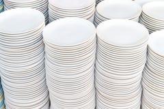 plates white Royaltyfria Bilder