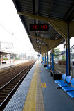 The platform. The empty and clean train platform Royalty Free Stock Image